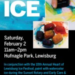 Saturday Feb. 2nd 11am-2pm: Paint w/ Ice in Hufnagle Park