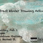 Abstract Winter Drawing and Coloring at the Downtown Gallery Feb. 1