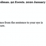 Ken Friedman: 92 Events, Feb. 3 – Mar. 20